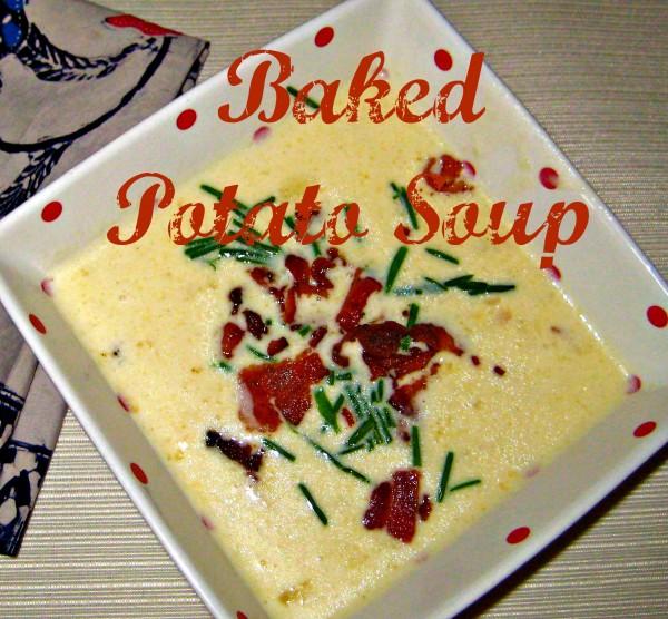 Bowl of Baked Potato Soup
