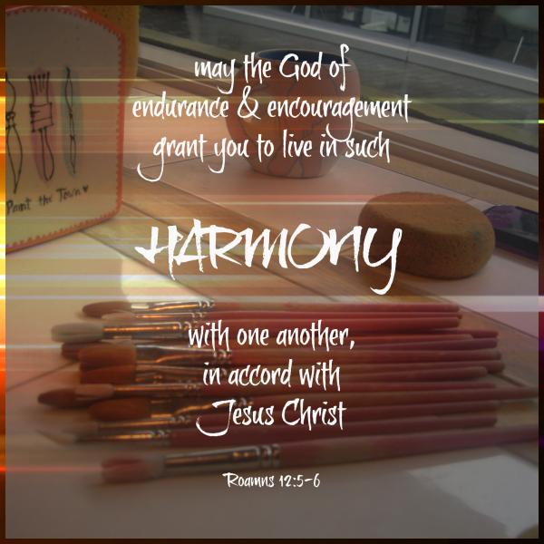 Sabbath Words…Harmony