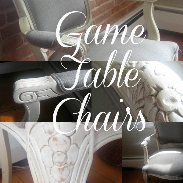 Game table chair details