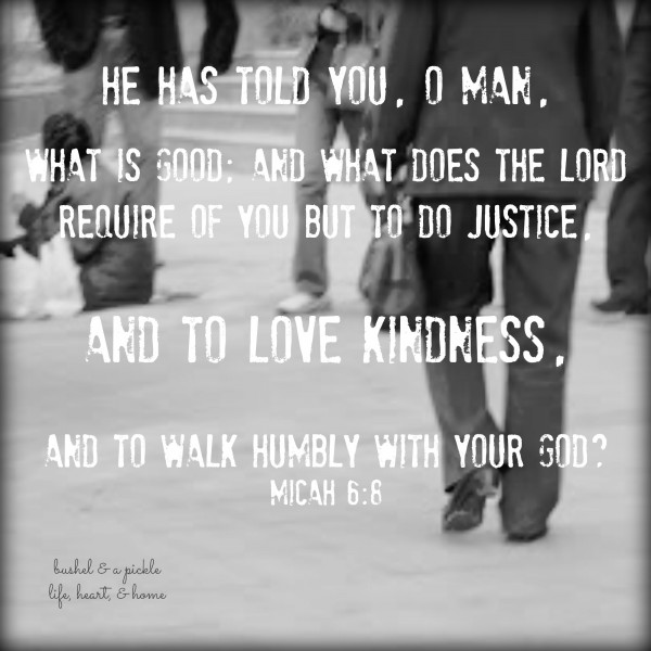 Micah 6-8 Kindness