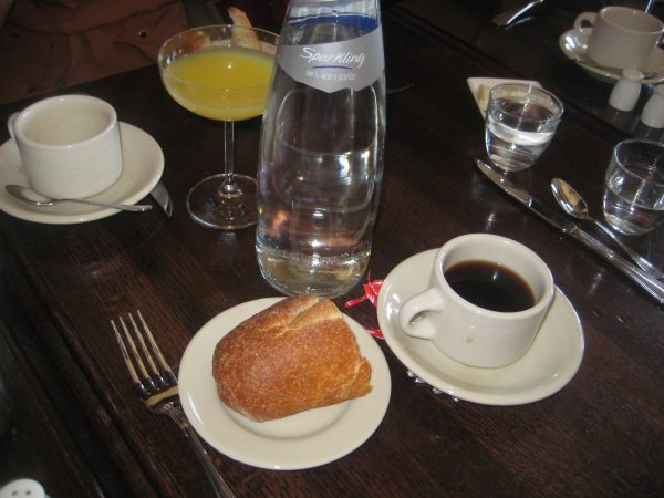 hot bread with coffee