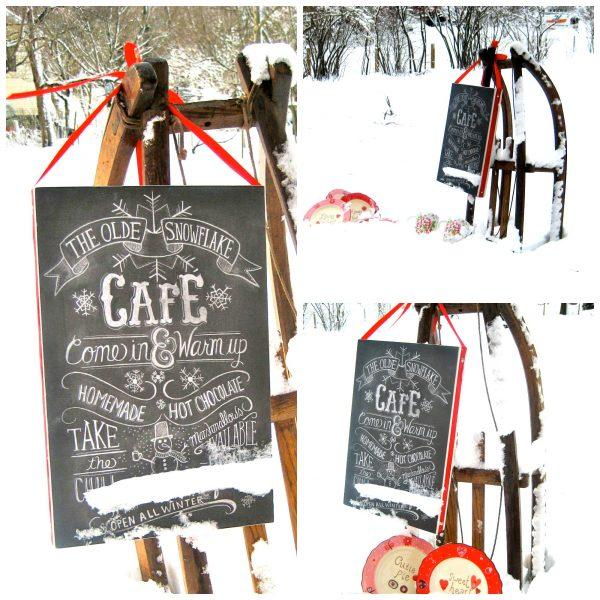 blog snow cafe adn sled