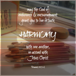 Sabbath Words…Harmony