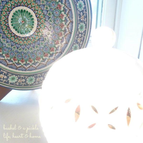 large plate & jar