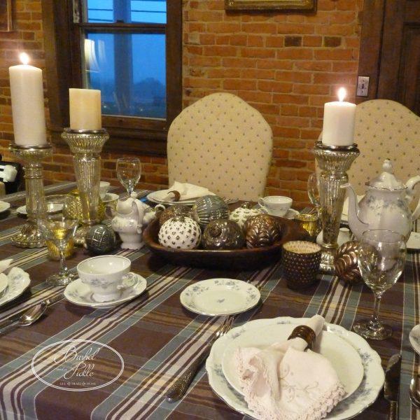 Thanks Christmas table