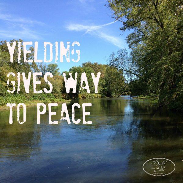 Yileding gives way to peace