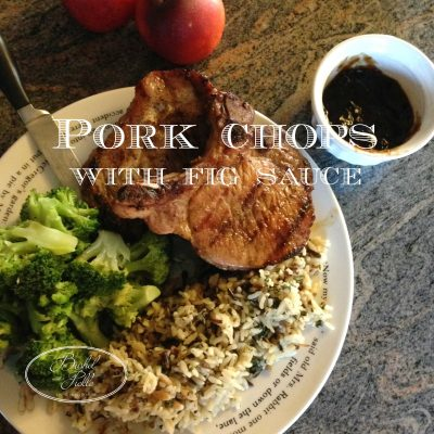 Pork Chop With Fig Sauce