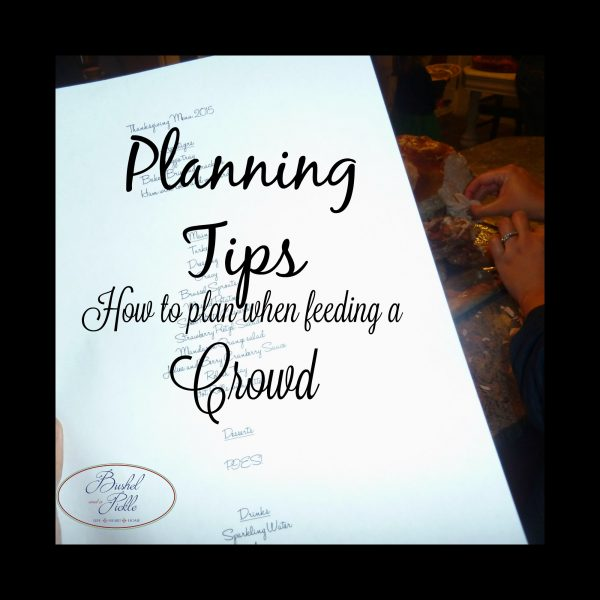 planning tips to feed a crowd
