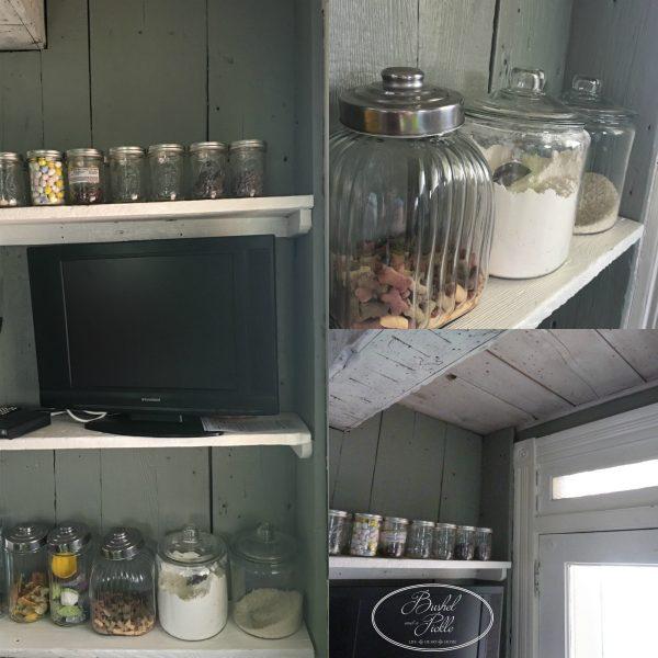 kitchen barn wood shelves