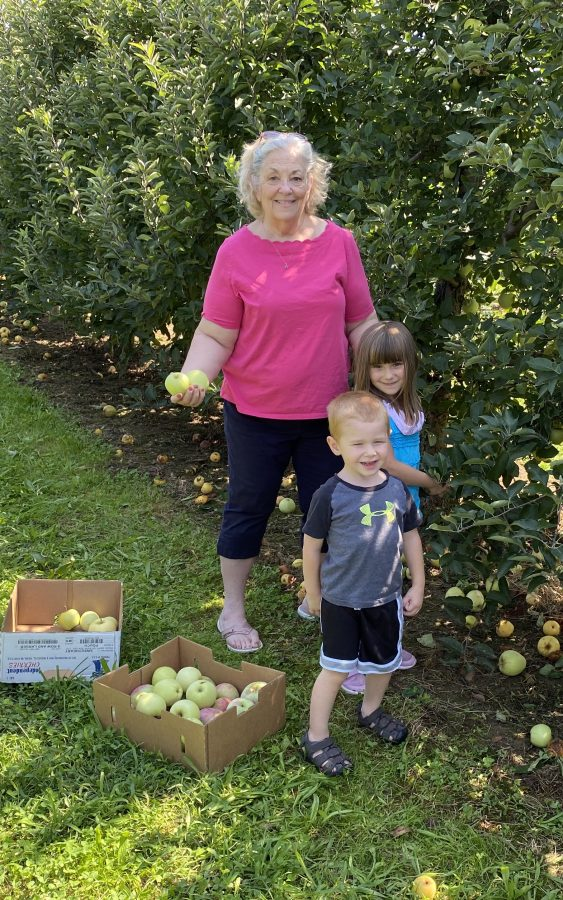 Me and Grands Autumn Apple Picking