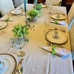 Gold and Green Table for Saint Patrick's Day