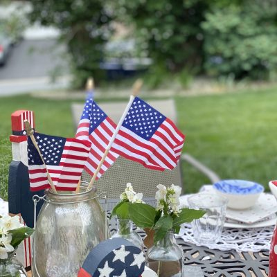 Summer Red, White and Blue for Memorial Day