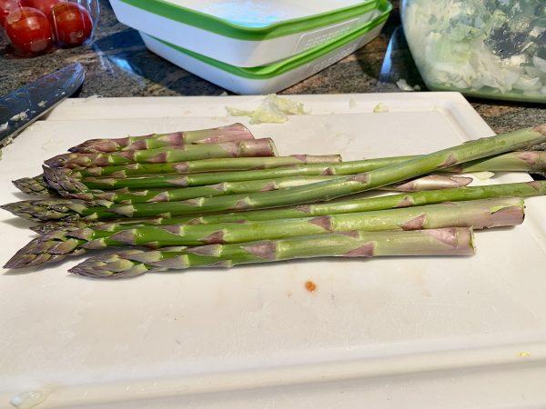 food sheet pan salmon asparagus 1