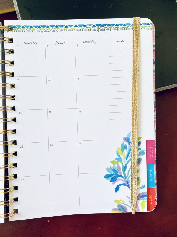 Sample Lily Planner Calendar page