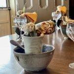 Handmade Ceramic Bowls Rustic Autumn Table