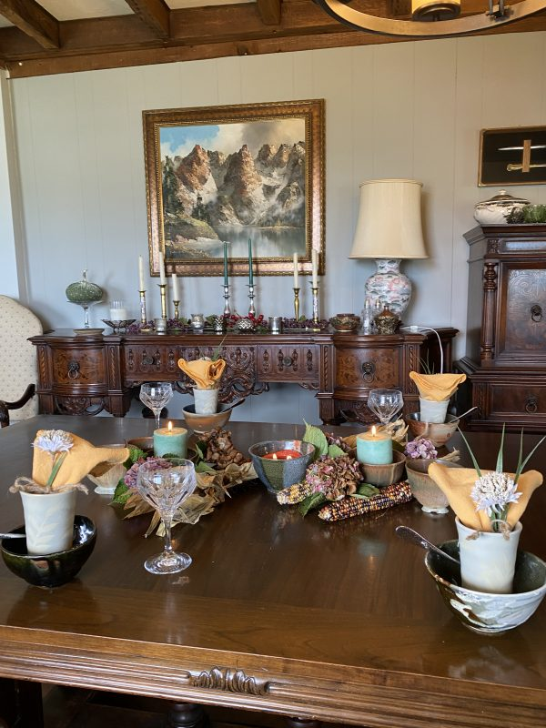 Overview of Rustic Autumn Tablescape