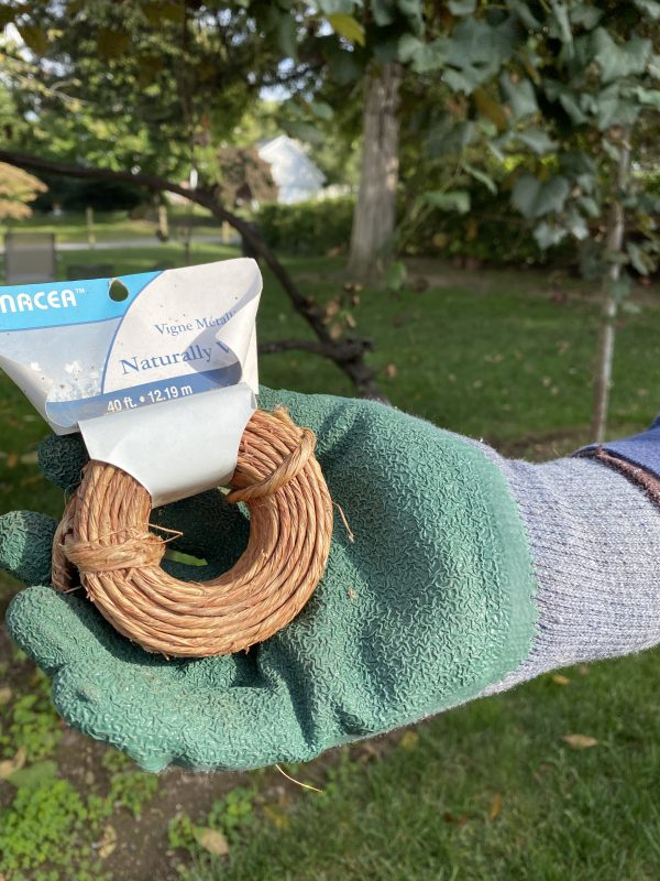 wire with natural twine