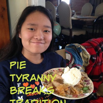 pie tryanny with Meg and apple pie a la mode